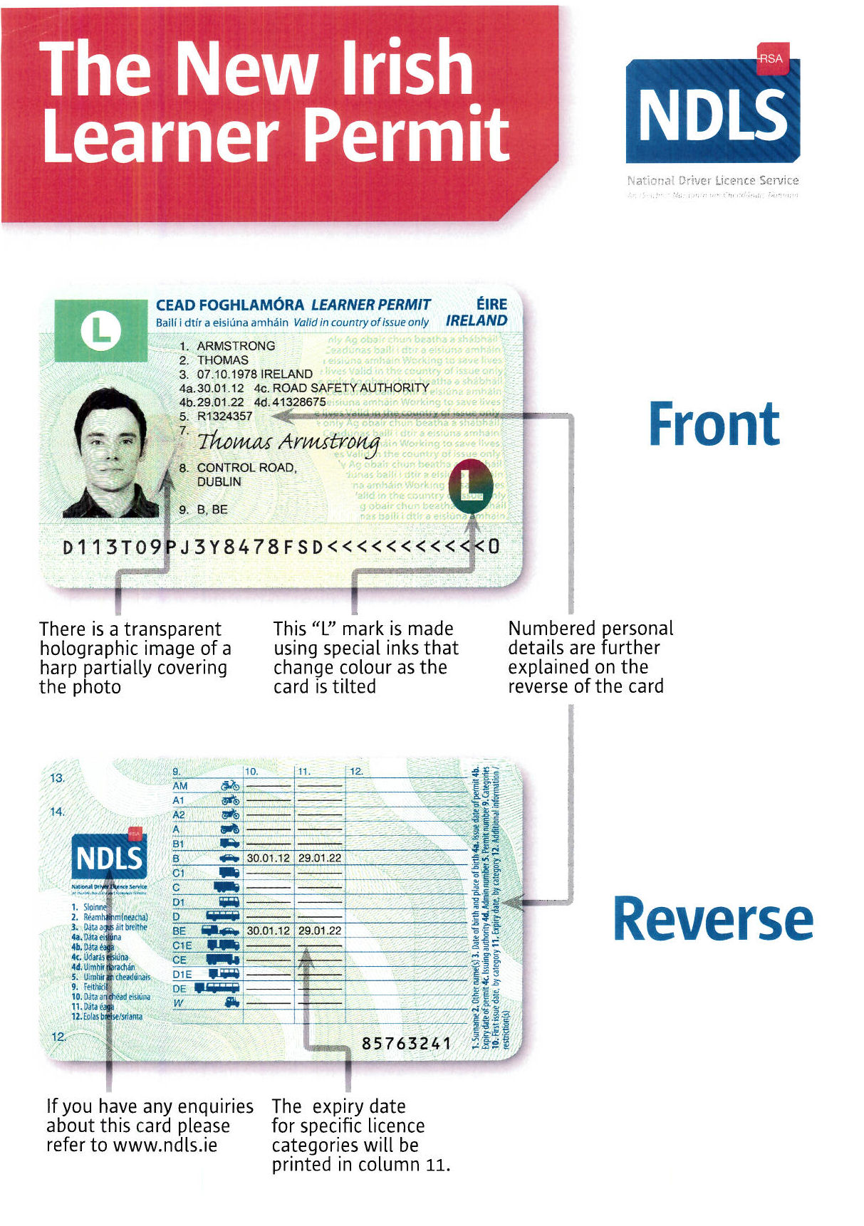 New Look Irish Driving Licence